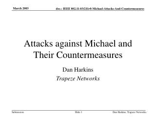 Attacks against Michael and Their Countermeasures