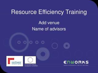 Resource Efficiency Training
