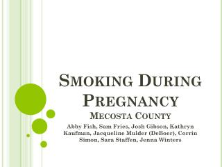 Smoking During Pregnancy Mecosta County