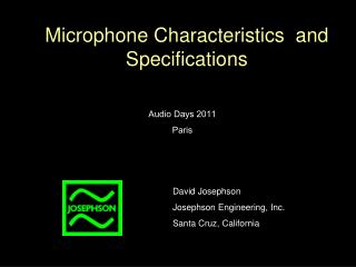 Microphone Characteristics  and Specifications