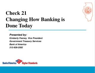 Check 21 Changing How Banking is  Done Today