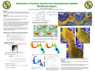 Estimation of Surface Velocity from Geostationary Satellite Multiband Imagery