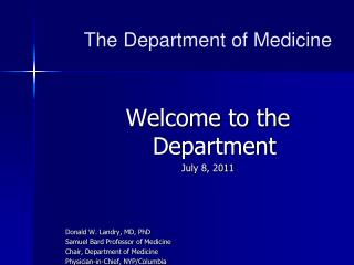 The Department of Medicine