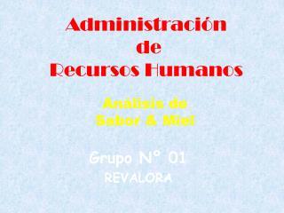 Administraci�n  de Recursos Humanos