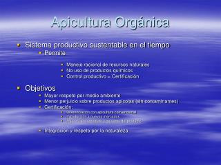 Apicultura Orgánica