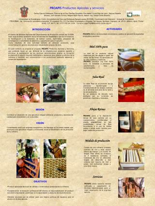 PROAPIS  Productos Apícolas y servicios