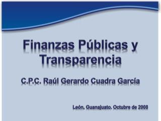 Finanzas Públicas y Transparencia
