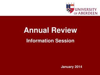 Annual Review Information Session
