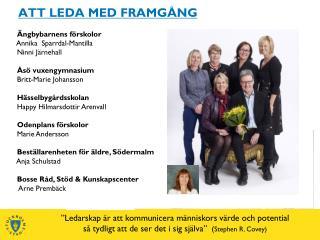 ATT LEDA MED FRAMG NG