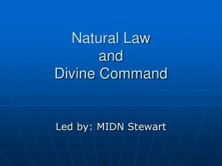 Natural Law and Divine Command