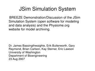 JSim Simulation System