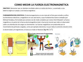 COMO MEDIR LA FUERZA ELECTROMAGNETICA