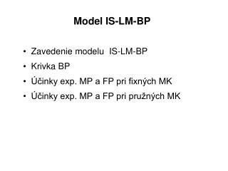 Model IS-LM-BP