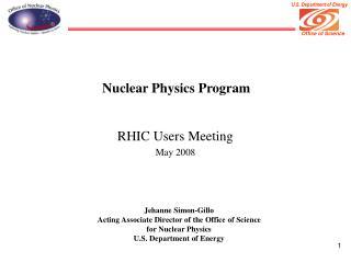 Nuclear Physics Program
