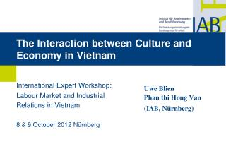The Interaction between Culture and Economy in Vietnam