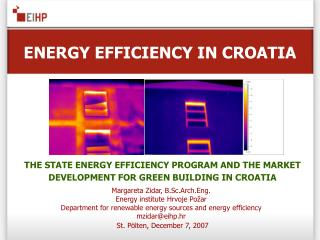 ENERGY EFFICIENCY IN CROATIA
