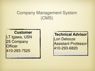 Company Management System (CMS)