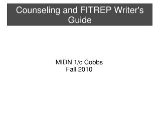 Counseling and FITREP Writer's Guide