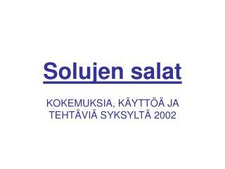 Solujen salat