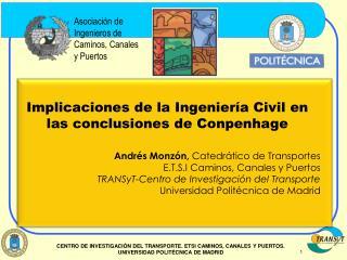 Implicaciones de la Ingeniería Civil en las conclusiones de Conpenhage