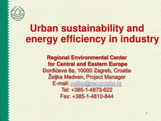 Urban sustainability and energy efficiency in industry