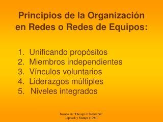 Principios de la Organizaci�n en Redes o Redes de Equipos: