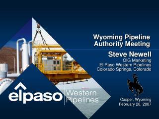 Wyoming Pipeline Authority Meeting