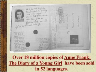 Anne Frank 1929- 1945