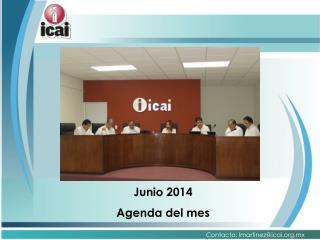 Junio 2014 Agenda del mes
