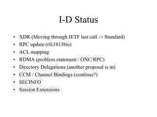 I-D Status
