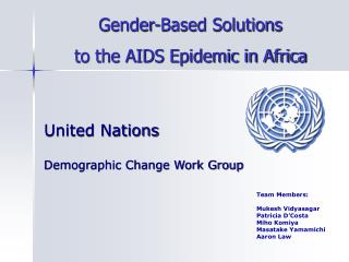 United Nations  Demographic Change Work Group