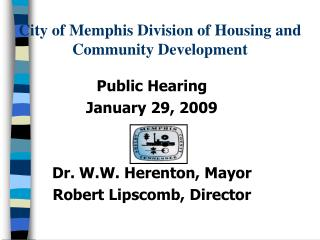 City of Memphis Division of Housing and  Community Development
