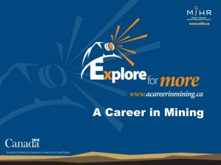 A Career in Mining