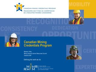 Canadian Mining  Credentials Program