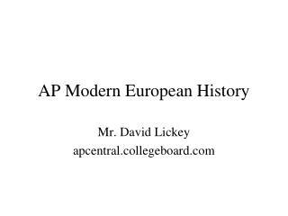 AP Modern European History