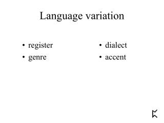 Language variation