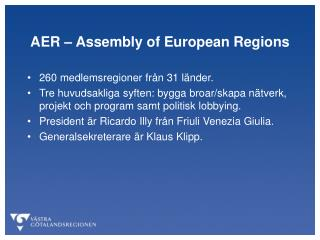 AER – Assembly of European Regions