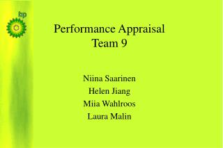 Performance Appraisal Team 9
