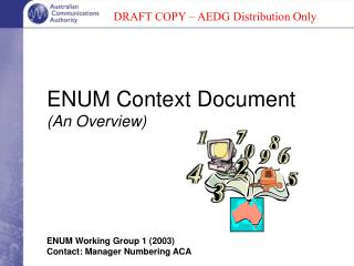 ENUM Context Document (An Overview)