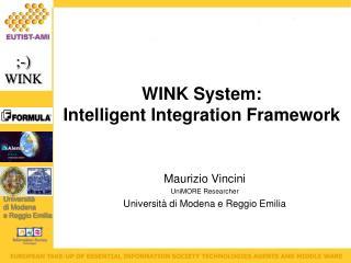 Maurizio Vincini UniMORE Researcher Università di Modena e Reggio Emilia