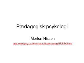 Pædagogisk psykologi