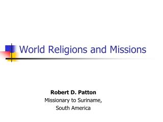 World Religions and Missions