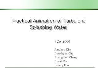 Practical Animation of Turbulent Splashing Water