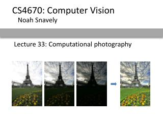 Lecture 33: Computational photography