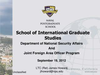 School of International Graduate Studies