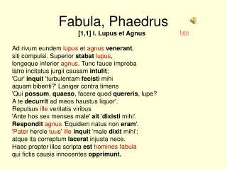 Fabula, Phaedrus