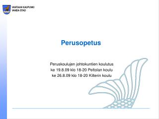 Perusopetus