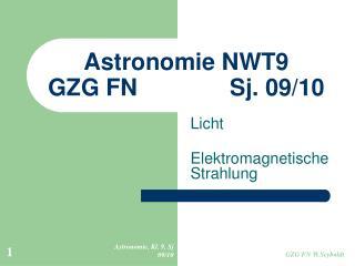 Astronomie NWT9 GZG FN              Sj. 09/10