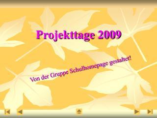 Projekttage 2009