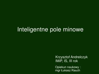Inteligentne pole minowe